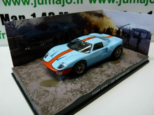 JB52H voiture 1//43 IXO 007 JAMES BOND FORD GT40 Gulf Die another day