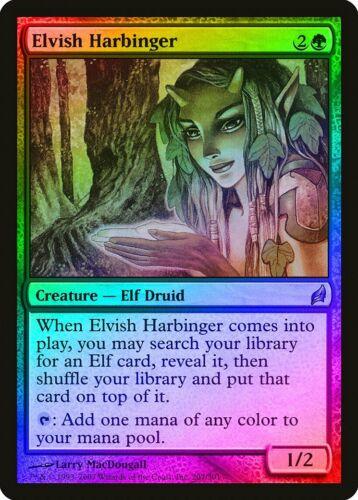 Elvish Harbinger FOIL Lorwyn HEAVILY PLD Green Uncommon MAGIC MTG CARD ABUGames