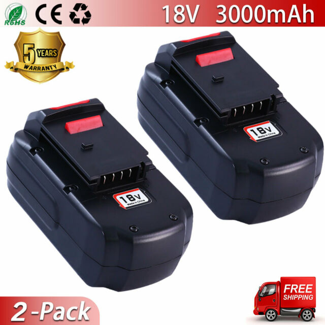 2PACK 18V 3.0Ah Battery For Porter Cable PC18B PCC489N PC188 PA18 Cordless Drill