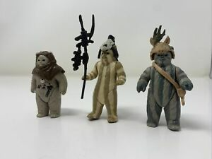 Vintage-1983-Kenner-Star-Wars-ROTJ-Ewok-Lot-Chief-Chirpa-Teebo-Logray