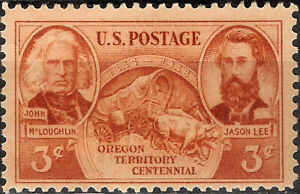 USA. 1948. 3 Cents. Oregon Territory Centennial (New, with hinge)