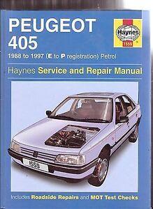 haynes peugeot 405 88 97 e to p registration petrol service and rh ebay es manual peugeot 405 pdf manual de peugeot 405 diesel modelo 96