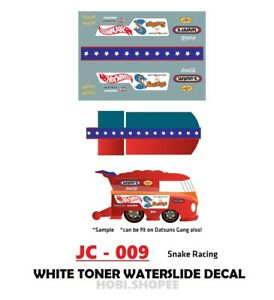 JC-9193 White Toner Waterslide Decal /> For Custom 1:64 Hot Wheels
