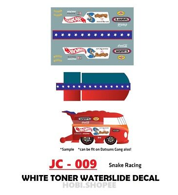 JC-9182 White Toner Waterslide Decals/> RAINBOW STRIKE/>For Custom 1:64 Hot Wheels