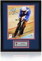 """Official SIR CHRIS HOY Hand Signed London 2012 Olympics 10x8"""" Numbered Photo"""