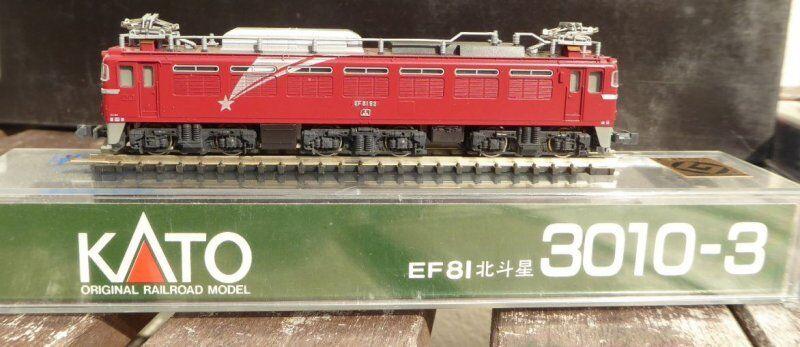 Kato 3010-3 Voie N Électrique-locomotive Ef 81-92 Der Jnr Japon Très Bien