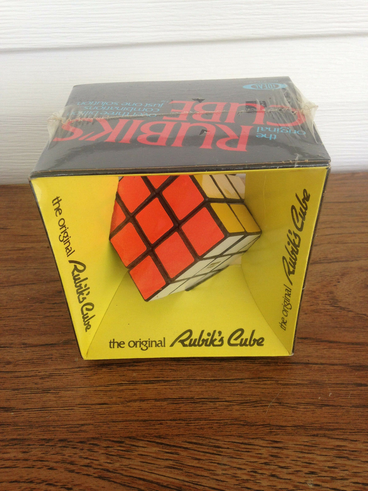 1980's The Original RUBIK'S CUBE Still Sealed IDEAL 2164-2