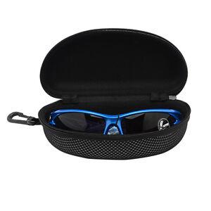 Schwarz-Hartschalenetui-Brillenbox-Brillen-Etui-Sonnenbrillenetui-Reissverschluss