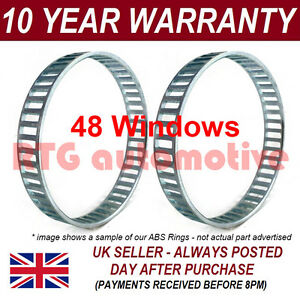 2X FOR MERCEDES S-CLASS W220 48 WINDOW 92MM ABS RELUCTOR RING CV JOINT AR5604