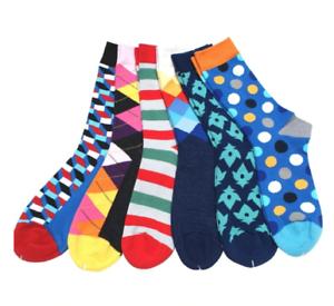 Mens-Happy-Socks-6-Pack-Colour-Match-up-Happy-Funky-Socks