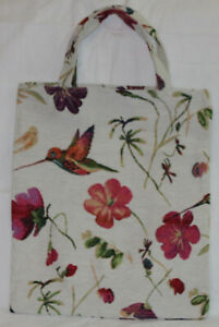 Kolibri-Einkaufsbeutel-Vogel-Blumen-Einkaufstasche-Shopper-Gobelin-Tapestry