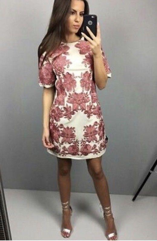 New ASOS Floral Embroiderot Shift Dress Größe S 36 US 4