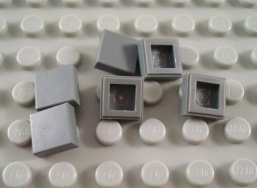 LEGO Lot of 6 Dark Bluish Gray 1x1 Tiles
