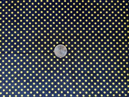 Follow The Sun Fabric Yellow Black Polka Dot OOP Quilt Shop Quality Cotton