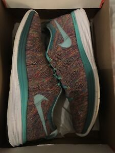 super popular a0aee 6034f Image is loading Nike-ID-Flyknit-Lunar-2-Multicolour-Multicolour-Rare-
