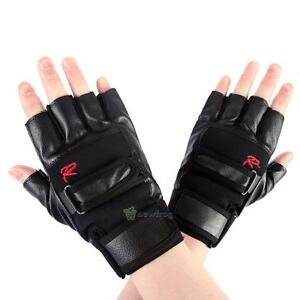 Pro-Men-Weight-Lifting-Gym-Exercise-Training-Sport-Fitness-Sports-Leather-Gloves