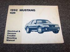 1992 Ford Mustang Electrical Wiring & Vacuum Diagram Manual GT LX 2.3L 5.0L V8