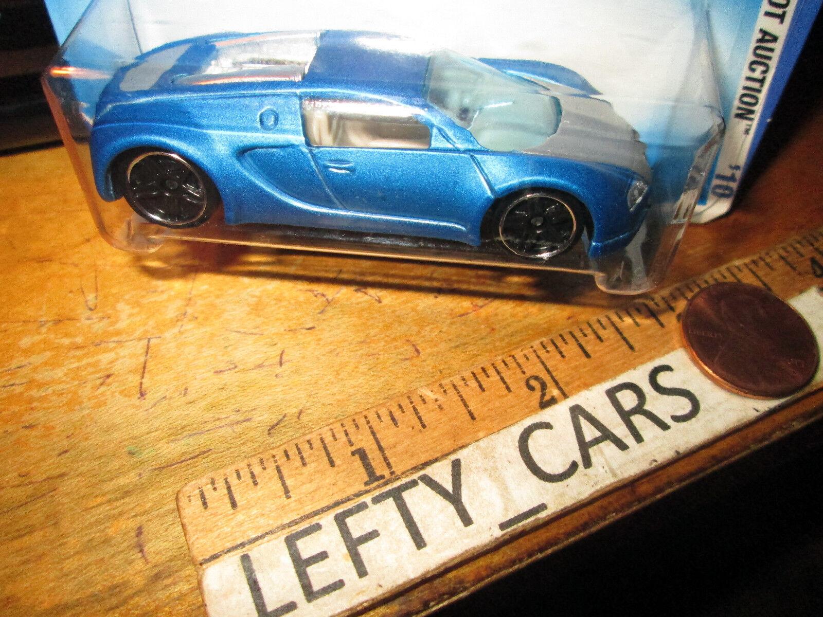 Hotwheels satin - blauen bugatti veyron - maßstab 1   64 - neu