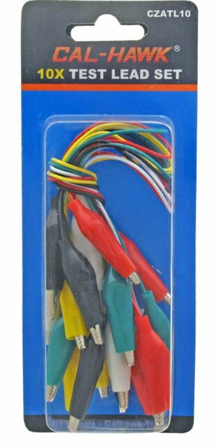 PC Test Lead Jumper Set Wires with Alligator Clips 5 Colors Coded 14-Inch Long for sale online