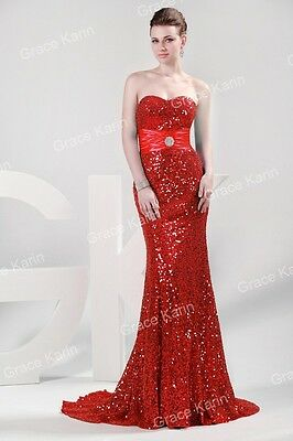 PLUS SIZE Mermaid Sequins Masquerade Wedding Gown Evening Prom Party Dress kleid