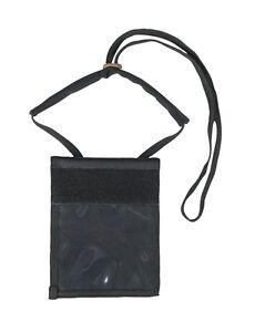 Cuello-Wallet-Negro-Bolsa-Monedero-Colgado-Del-Cuello-Cartera-con-Collar-nuevo