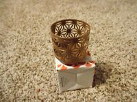 Gold Canyon Sunburst Teenie Wrap Candle Holder For Use With Volights In Box