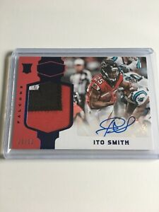 Ito-Smith-2018-Panini-Plates-And-Patches-Rookie-Patch-Auto-20-50-Atlanta-Falcons