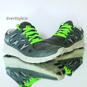 Details about NEW NIKE Free Run 2 Ext Women's Running Shoes Grey Lime sz 6