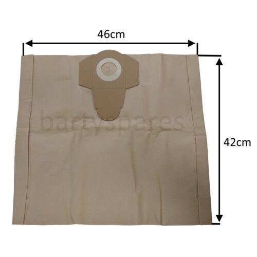 5 x Dust Bags for TITAN SCREWFIX TTB430VAC 1400W 30LTR Wet /& Dry Vacuum Cleaner