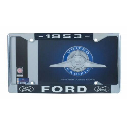1953 Ford License Plate Frame With Ford Oval Emblem