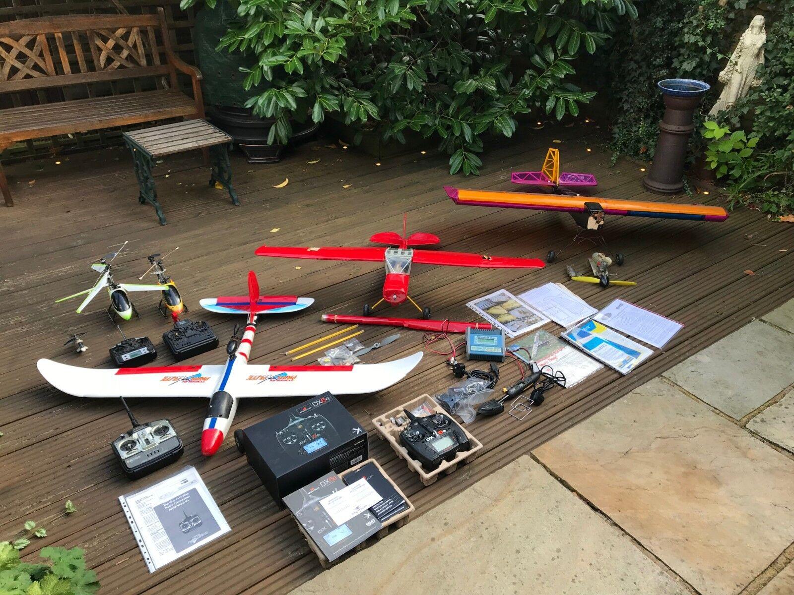 RC JOB LOT BRAND NEW SPEKTRUM DX6E NITRO PLANES HELICOPTER ELECTRIC BIRD DOG L19