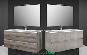 Illuminazione Bagno Sospensione : Mobile bagno sospeso completo cassetti specchio illuminazione