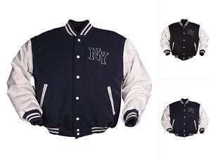 Details zu Mil Tec NY Baseball Jacke Sportjacke Herren Sommerjacke Collegejacke S 3XL