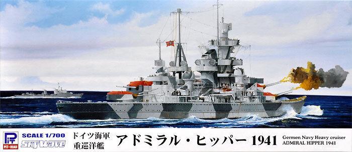 PIT-ROAD Germen Navy Heavy cruiser ADMRAL HIPPER 1941 1 700 MODEL KIT FROM JAPAN