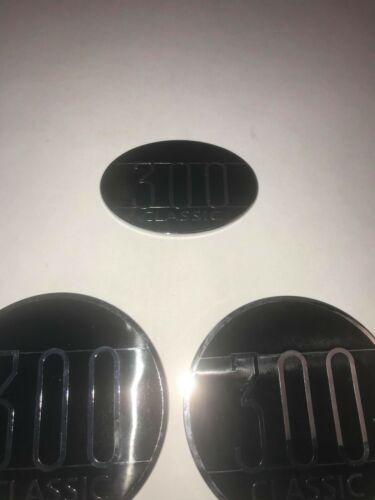 2005-2009 Chrysler 300 Black Classic Fender /& Trunk Emblem 3 PIECE SET
