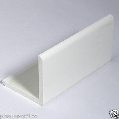 WHITE PLASTIC UPVC PVC RIGID 50mm X 50mm CORNER 90° DEGREE ANGLE 5m - 2 X 2.5m