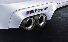 3x BMW M Power Aufkleber Seiten Sticker 140mm Set (schwarz mit Farbstreifen)