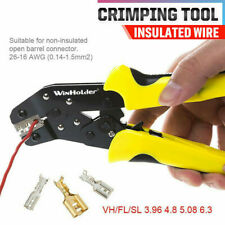 Wire Crimper Pliers Electric Non Insulated Cable Connectors Terminal Crimping