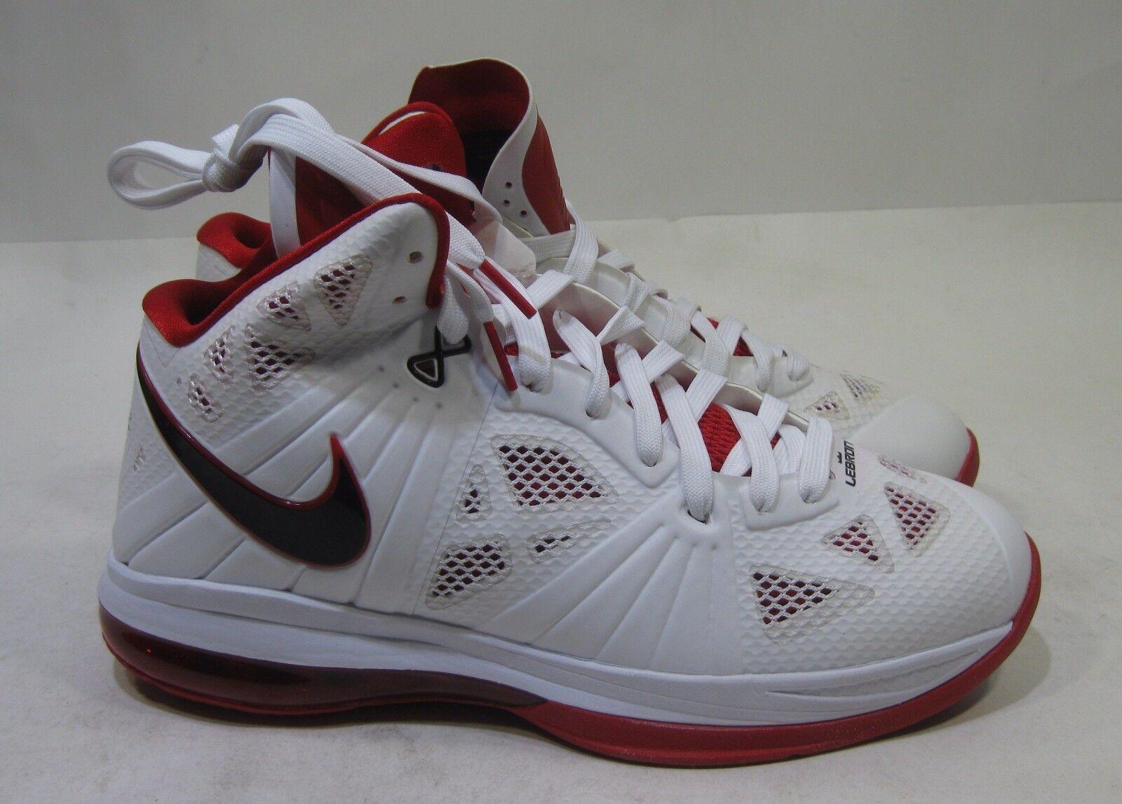Nike Lebron Viii 8.S. White Black Sport Red 441946-100 Rare Size 9