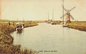VIEW-ON-THE-ANT-RIVER-NORFOLK-ENGLAND-PHOTO-POSTCARD