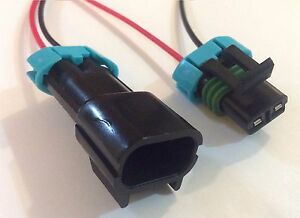 1x Female and Male Connector Plug 2-way 2 pin Waterproof Electrical Metri-Pack