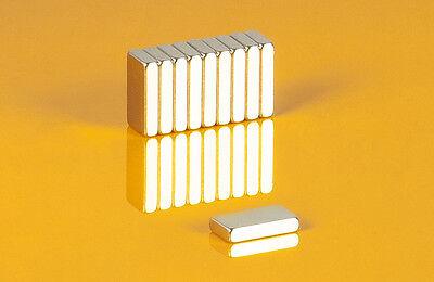 10 starke Neodym Magnete 10 x 5,5 x 2 mm Quader N50 10x5,5x2mm