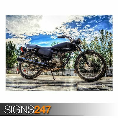 BIKE POSTER AC439 Photo Picture Poster Print Art A0 to A4 HONDA CG125 CC