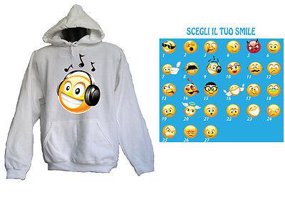 HOODIE UOMO EVIL Emoji Felpa con cappuccio con cappuccio Pullover moonworks ®