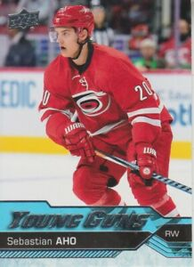 2016-17-Upper-Deck-Young-Guns-RC-210-Sebastian-Aho-Hurricanes