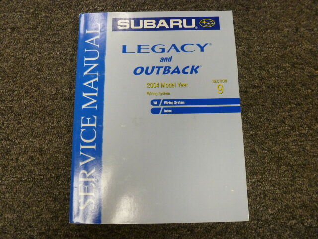2004 Subaru Legacy  U0026 Outback Electrical Wiring Diagrams Service Repair Manual