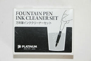 Platinum-Fountain-Pen-Ink-Cleaning-Set-LOT-of-3-sets