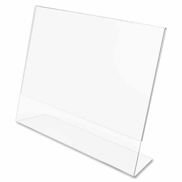 Dazzling Displays 25 Acrylic 6 X 4 Slanted Picture Frame Holders