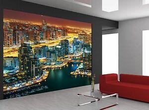 Dubai Marina Wall Mural Photo Wallpaper GIANT DECOR Paper Poster Free Paste