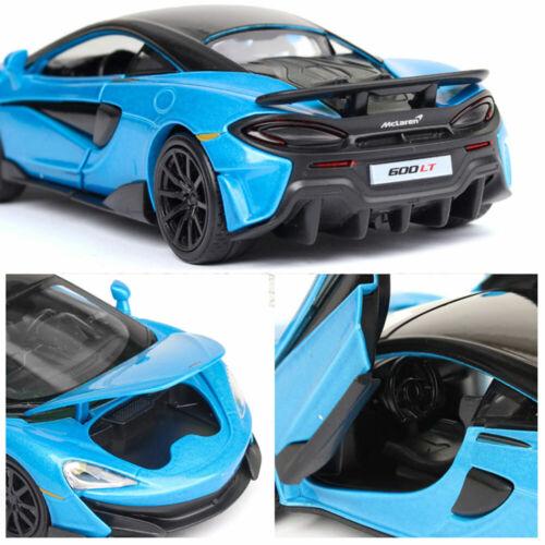 McLaren 600LT 2019 1:32 Scale Model Car Alloy Diecast Toy Vehicle Kids Gift Blue